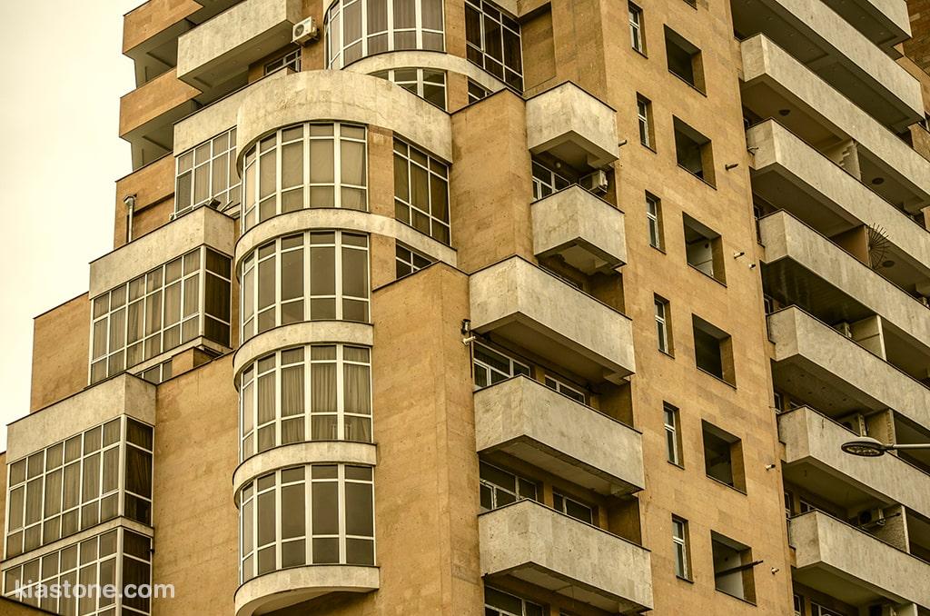 نصب سنگهای ساختمانی به عنوان نمای خارجی ساختمان
