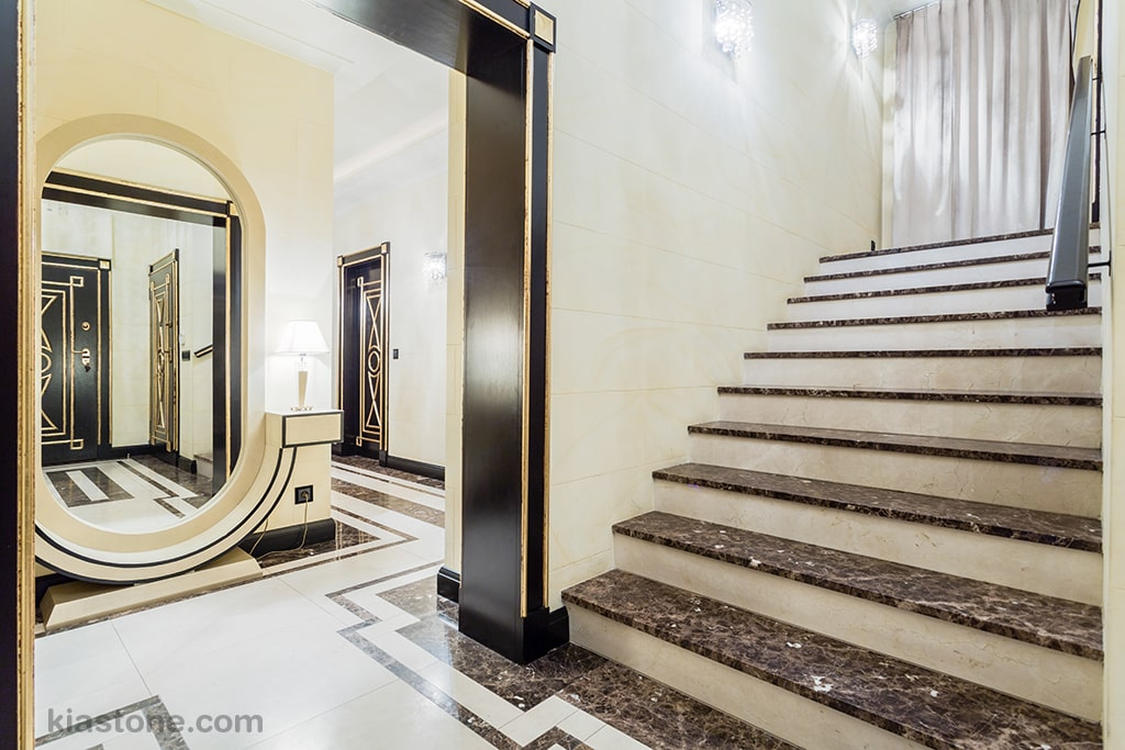 ویژگیهای سنگ پله مناسب برای فضای داخلی | ویژگیهای سنگ پله برای پلههای خارج از ساختمان