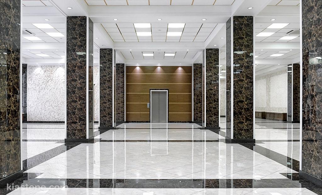 کاربرد سنگ کف برای کف سالن های بزرگ