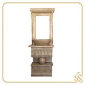 روشویی سنگی با قاب آینه دیاکو | قیمت روشویی سنگی با قاب آینه دیاکو | خرید روشویی سنگی با قاب آینه دیاکو