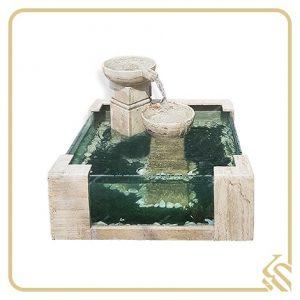 آبنما سنگی آکواریومی 2 ستونه سابین | قیمت آبنما سنگی آکواریومی 2 ستونه سابین | خرید آبنما سنگی آکواریومی 2 ستونه سابین