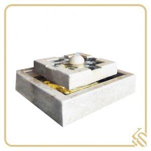 آبنما سنگی میدانی چهار وجهی سوین | قیمت آبنما سنگی میدانی چهار وجهی سوین | خرید آبنما سنگی میدانی چهار وجهی سوین